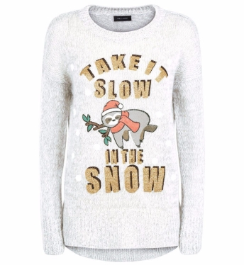 Cream Sloth Snow Jumper