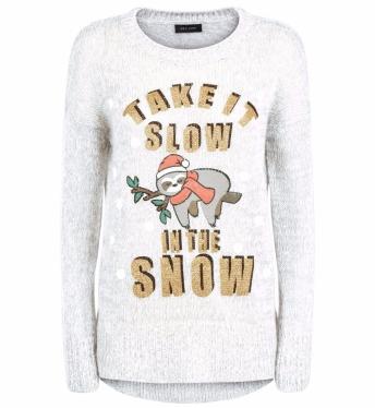 Cream Sloth Snow Jumper