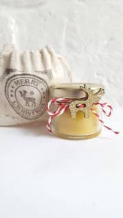 Reindeer Beeswax candle