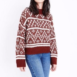 Rust Fairisle Jumper