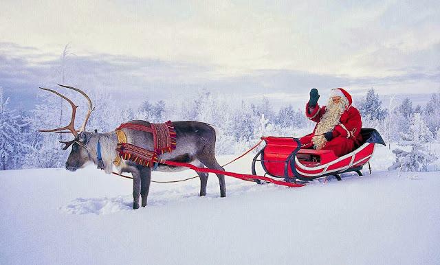 FINLAND Lapland Reindeer Sleigh with Santa2